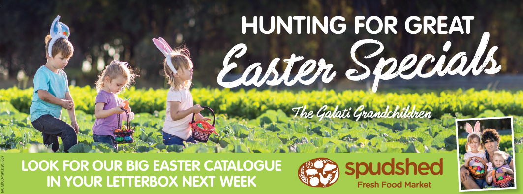 Spudshed Easter campaign